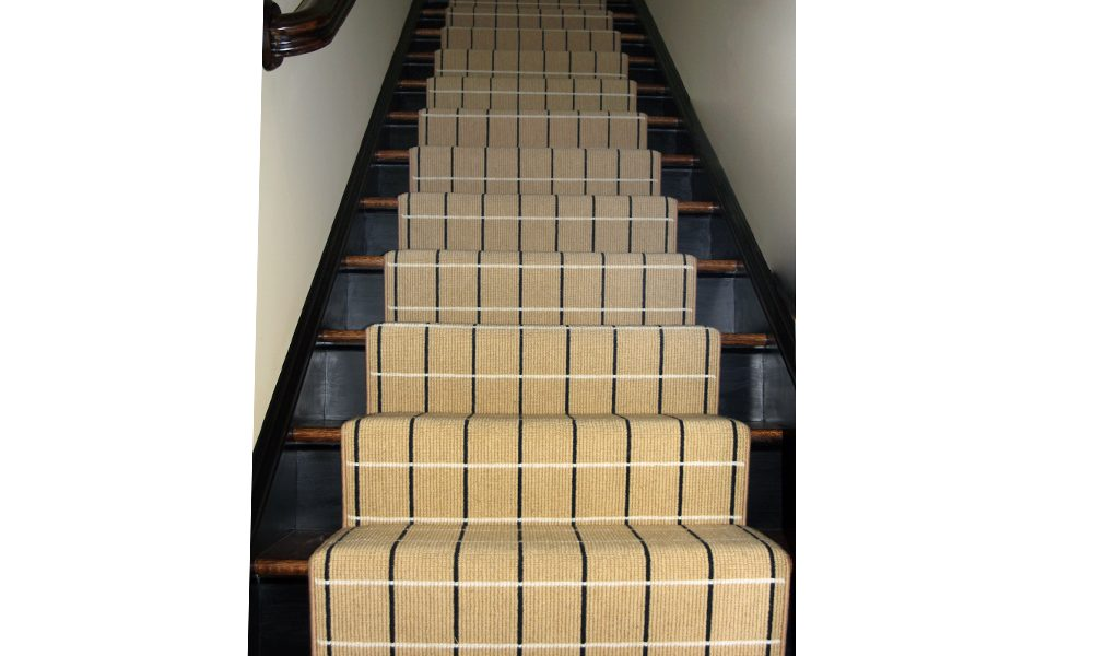 Wool Patterned Carpet Stairrunner