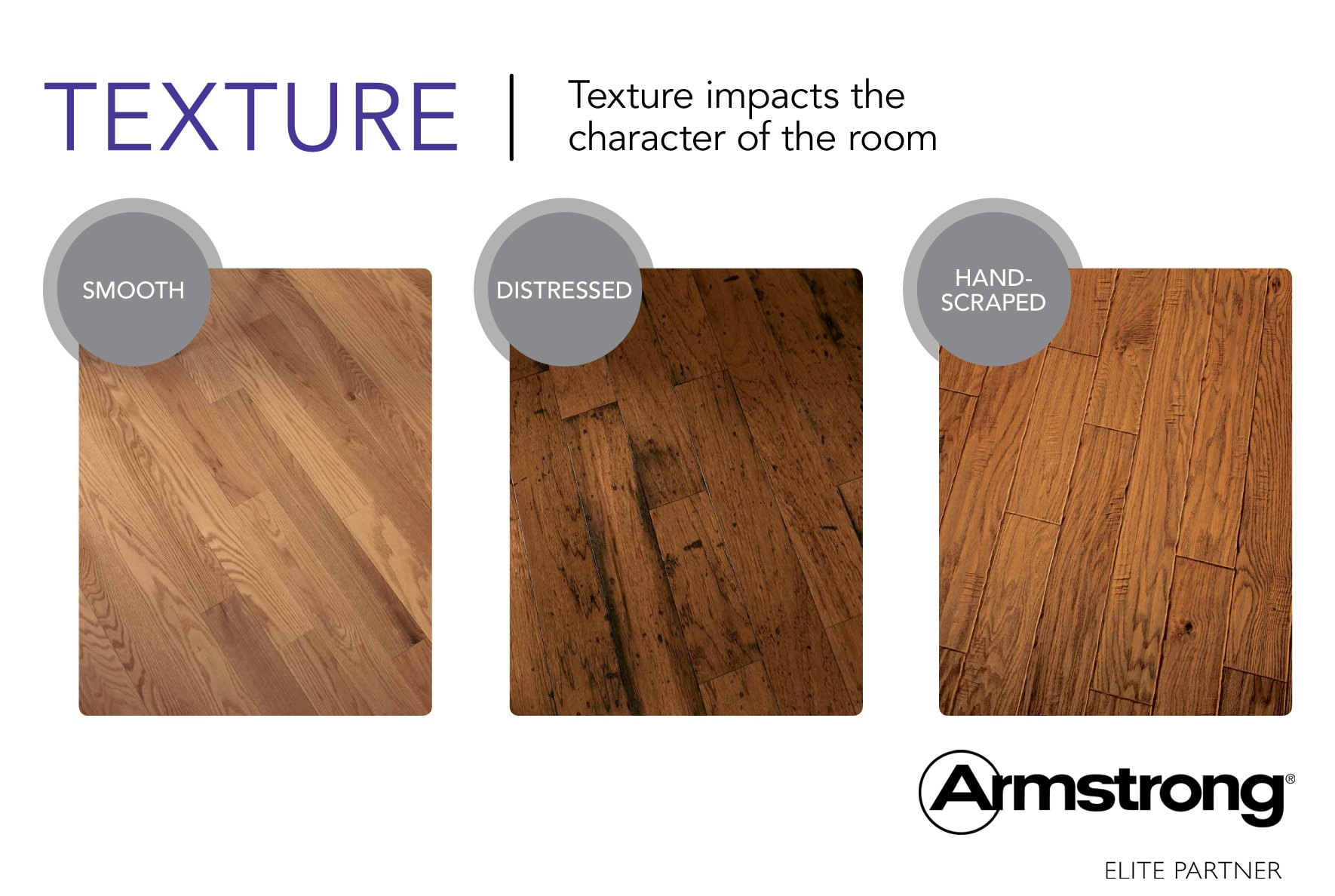 Hardwood Textures impacts the character of the room