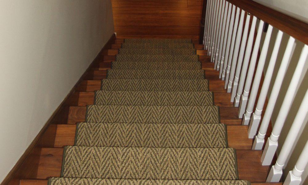 Basement stair runner carpet