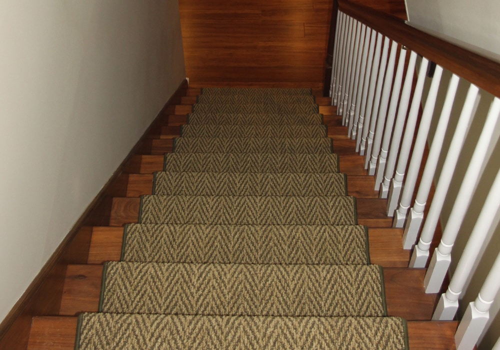 Basement stair runner carpet