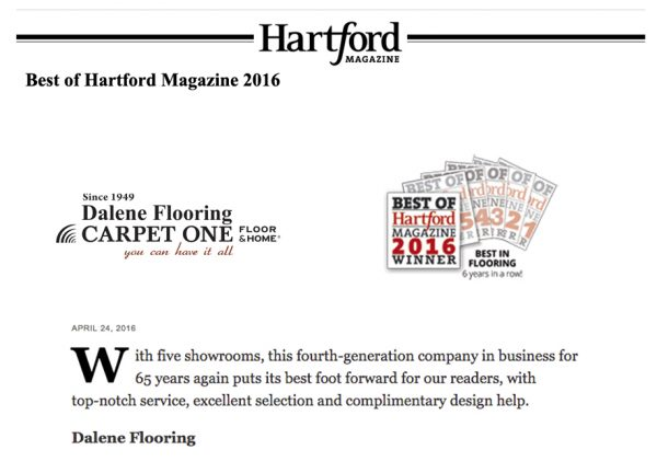 Best in Flooring 2016 - Hartford Magazine
