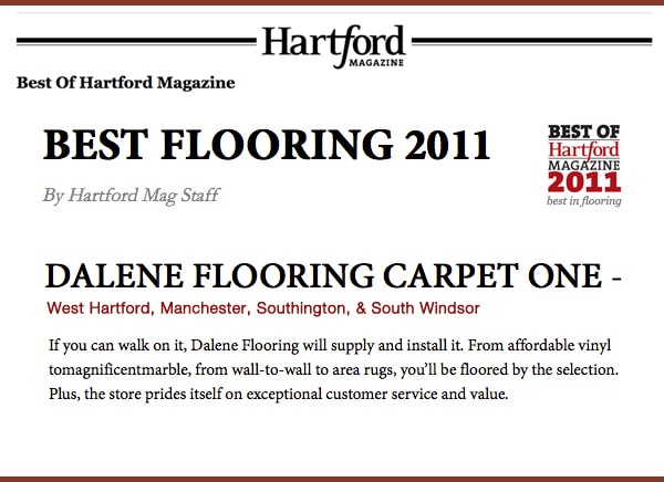 Best in Flooring by Hartford Magazine 2011