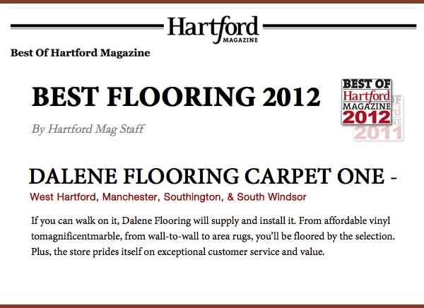 Best in Flooring by Hartford Magazine 2012