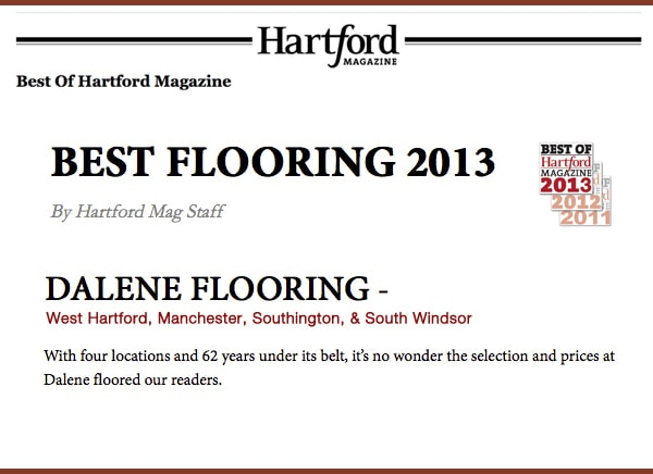 Best of Hartford 2013, voted Best in Flooring