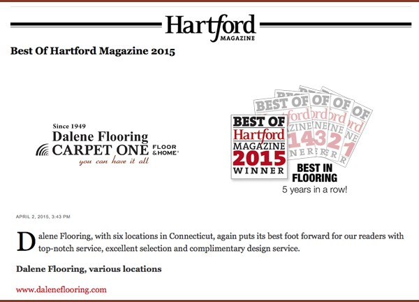 Voted Best in Flooring by Hartford Magazine 2015