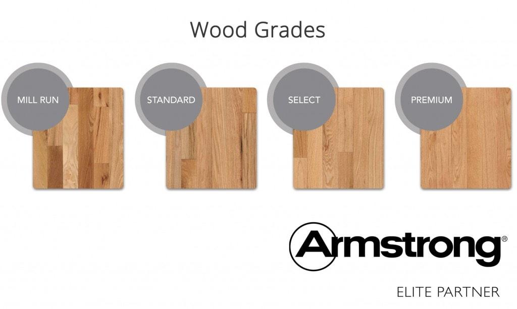 Wood grades in flooring