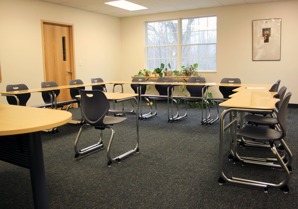 School classroom carpet by Dalene Flooring