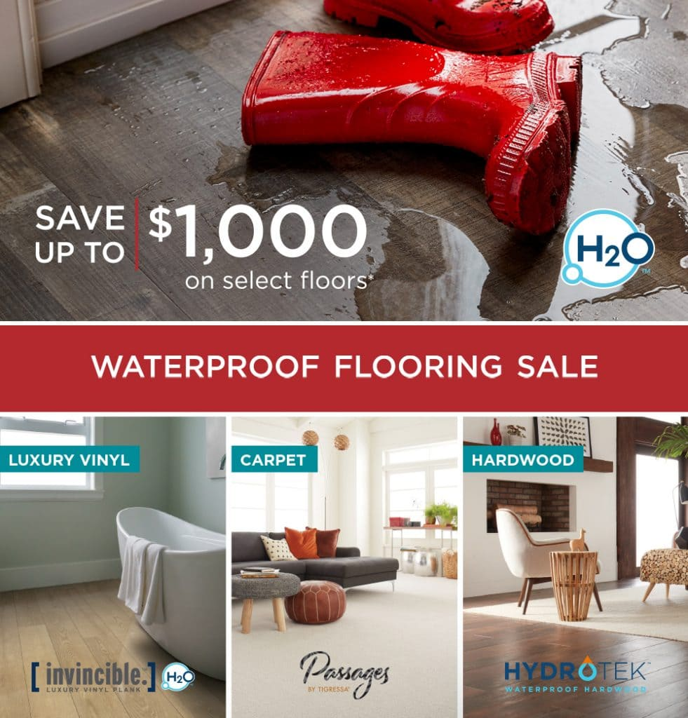 Save up to $1000 on your next waterproof floor